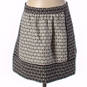 J.CREW Textured Block Black/White Print Skirt